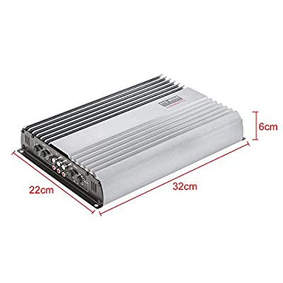 3200W 12V 4 Channel Car Amplifier Stereo Power Amp Audio 4CH Bass Sub Woofer: Car Electronics