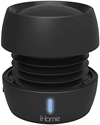Black iHome iBT72 Rechargeable Bluetooth Mini Speaker System