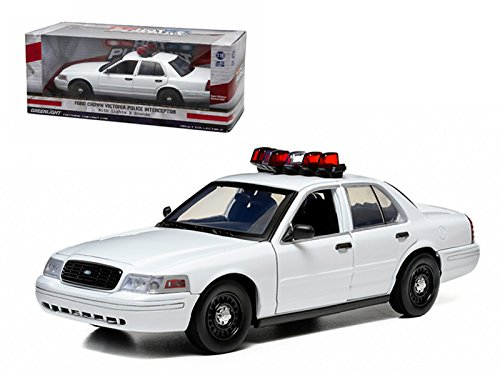 StarSun Depot Ford Crown Victoria Unmarked Plain White Police Car Interceptor With Lights and Sounds 1/18 Model Car by - Crown Victoria Police