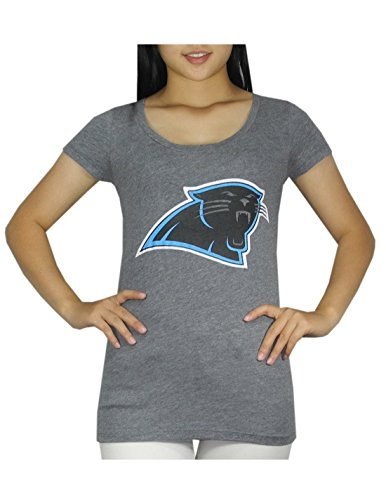 Womens Pink Victoria's Secret NFL Carolina Panthers Crew-Neck T Shirt M Grey