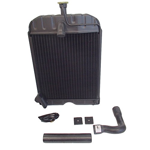 Radiator Tractor New (8N8005 Radiator with Original Style Cap Pads Hoses fits Ford Tractor 2N 8N 9N)