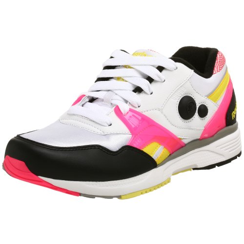Reebok Men's Pump Running Dual Sneaker,White/Black/Yellow,9 M