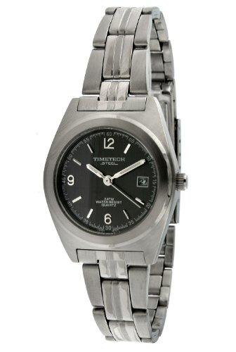 Timetech Steel 3605L Women's Steel Grey Dial Bracelet Watch