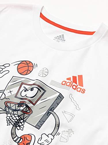 adidas Boys' Short Sleeve Cotton Jersey Graphic T-Shirt 3