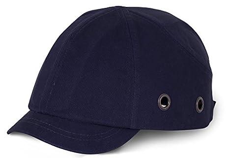 Corto pico Seguridad gorra de béisbol, azul marino, 1: Amazon.es ...