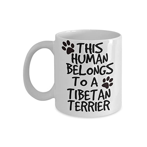 Tibetan Terrier Mug - White 11oz Ceramic Tea Coffee Cup - Perfect For Travel And Gifts 1