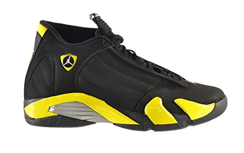 Air-Jordan-14-Mens-Shoes-BlackVibrant-Yellow-White-487471-070