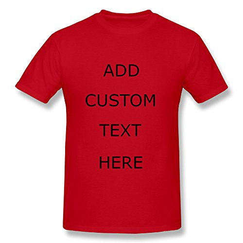DESIGN YOUR OWN SHIRT Customized T-Shirt - Add Your Picture Photo Text Print (Red - 3X) (Promotional Clothing Customized)