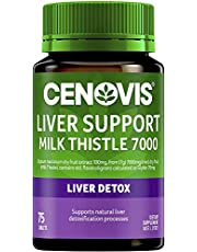 Cenovis Liver Support Milk Thistle 7000 - High strength - Supports natural liver detoxification processes, 75 Tablets