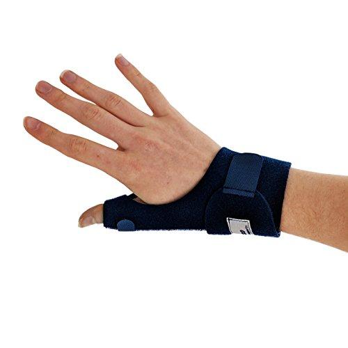 Órtesis Azul Para Pulgar - La ferula pulgar Actesso es perfecta para dolor de pulgar, tendinitis, esguinces y distensiones - izquierda o derecha - tamaño universal (Derecha, Azul)