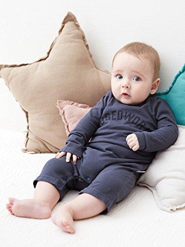 cacf1829c3faa RUGGED WORKS (ラゲッドワークス) 日本 製 ベビー ロゴ ロンパース 赤ちゃん 男の子 女の子 長袖