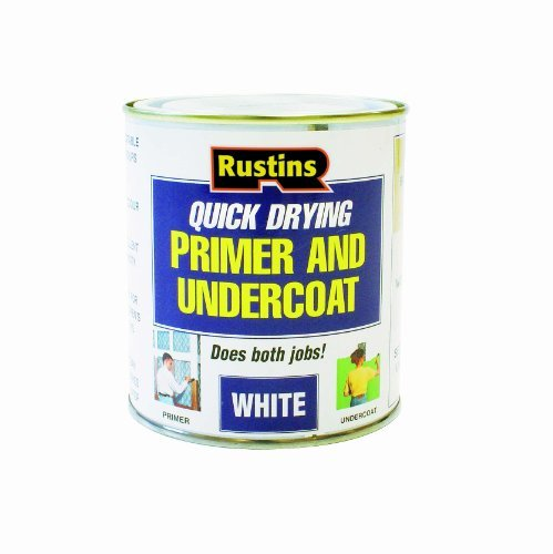 Rustins WHPU1000 1L Quick Dry Primer/ Undercoat - White by Rustins