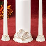 Double heart themed Unity Candle holders