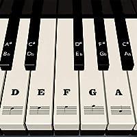Piano Stickers for Keys - White & Black Piano Keyboard...