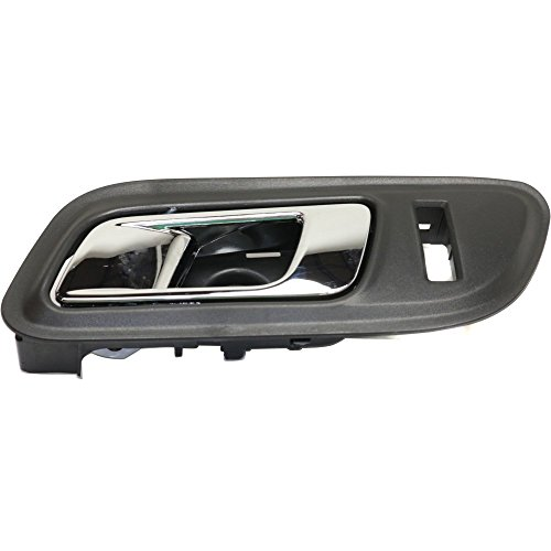 Interior Door Handle compatible with Ford Taurus 10-14 Front LH Inside Chrome Lever and Black Housing