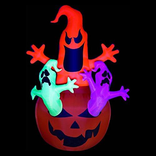 Gemmy Halloween Airblown Pumpkin Ghosts (Halloween Airblown Inflatables Sale)