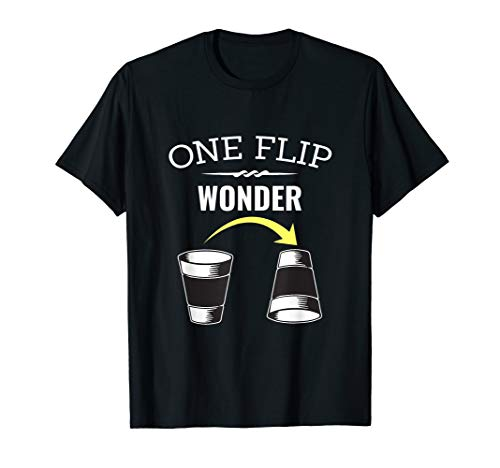 - One Flip Wonder Shirt Flip Cup Drinking Game