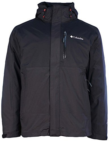 Columbia Mens Rural Mountain II Interchange Jacket-Black/Black-Medium (Humid Heat)