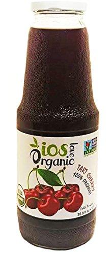 IOS Love Organic Tart Cherry Juice, 33.8fl oz, Cold Pressed (Cold Pressed Tart Cherry Juice)