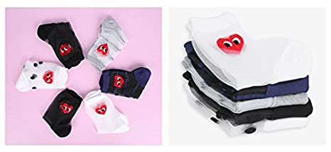 Red Heart Face Sock Set 6 Pack Mesh Socks