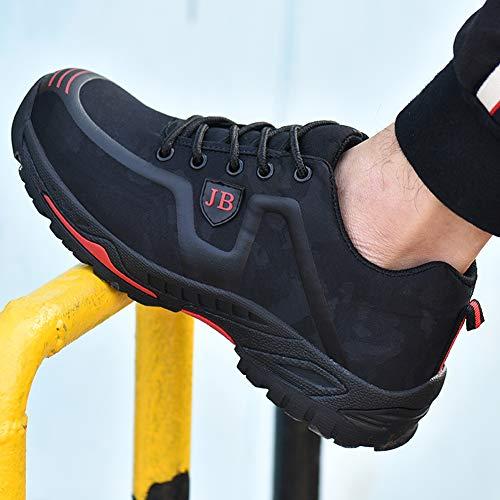 En De Noir Travail Chaussures Baskets Happygo Legere Homme Confortable Sécurité Embout Femme Chaussure Protection rouge Acier w46P5x4a