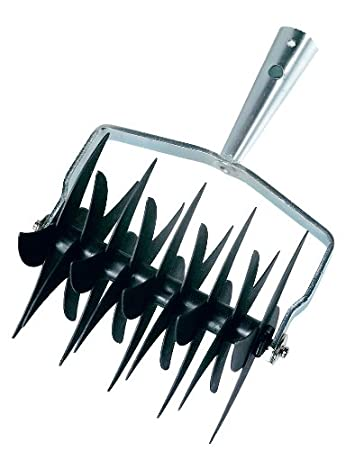 Connex FLOR30684 - Cabezal cultivador en rodillo (galvanizado, 18 cuchillas)