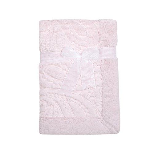 Kyle & Deena Pink Baby Plush Paisley Blanket