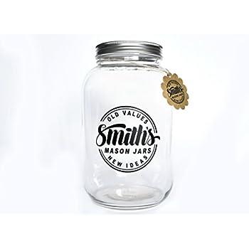 704cc62351e Smiths Mason Jars Wide Mouth 1 Gallon  (128 oz ) Glass Jar Ideal ...
