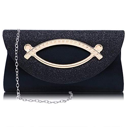 Kici Sparkly Evening Clutch Envelope Handbag Women Glitter Party Wedding Purse Crossbody Shoulder Bag