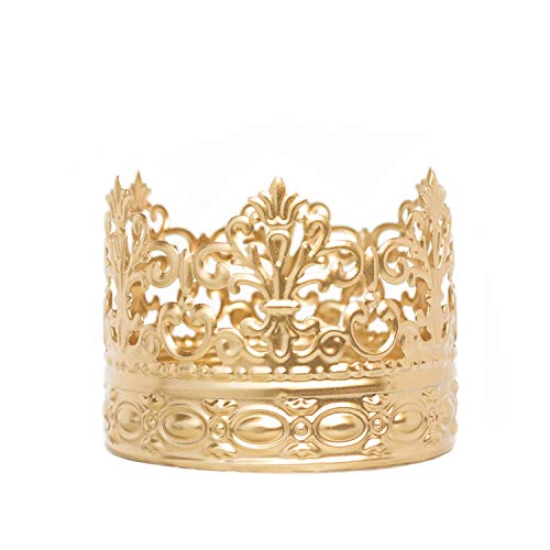 Gold Crown Cake Topper, Vintage Crown, Small Gold Wedding Cake Top, Princess Cake, The Queen of Crowns (Gold Alice)