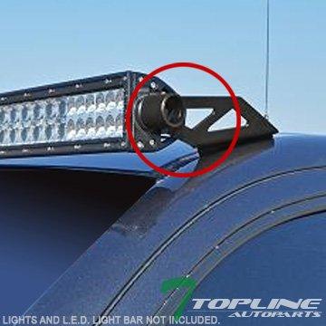 Topline Autopart Black Roof Pillar Lamp Mount Brackets Kit For 50