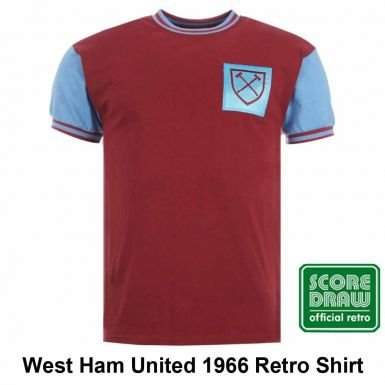 fed0ff78e Image Unavailable. Image not available for. Color  West Ham United 1966  Retro Shirt
