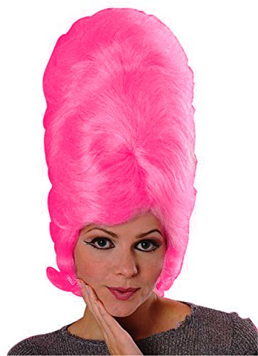 Beehive Wig Costume (Rubie's Costume Large Beehive Wig, Pink, One Size)