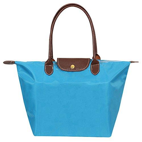 Shoulder Folding Wocharm Messenger Womens Casual Ladies Nylon Travel Bag Purse Beach Azure Shopping Handbags Tote rrnEwqzx