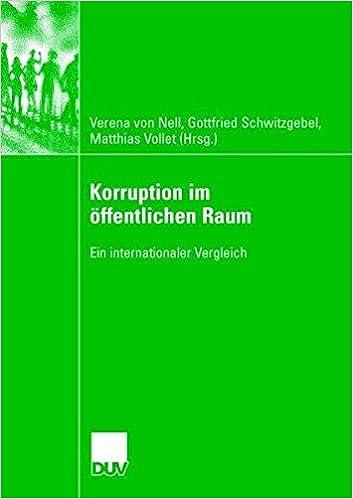 Korruption im öffentlichen Raum: Ein internationaler Vergleich