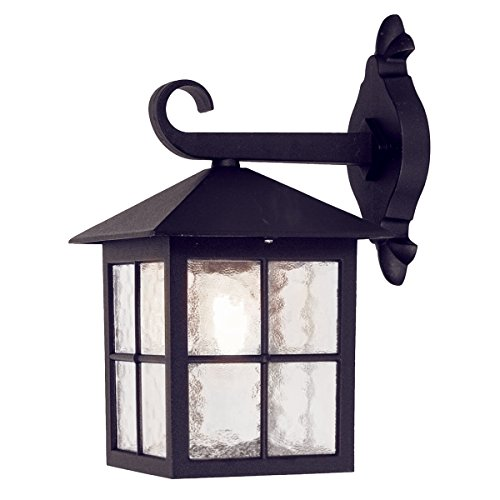 Elstead Lighting EL/BL18 Winchester Wall Down Lantern Traditional Leaf Backplate, ()
