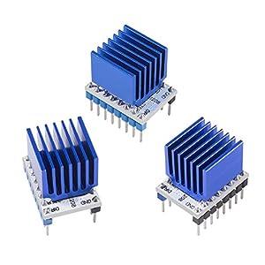 3D Printer TMC2208 Stepper Motor Driver,TMC2208 V1.2 Stepper Driver Module Carrier with Heat Sink Screwdriver for 3D Printer Controller Mother Boards Reprap Ramps1.4 MKS Prusa i3 Ender-3 Pro, 5PCS