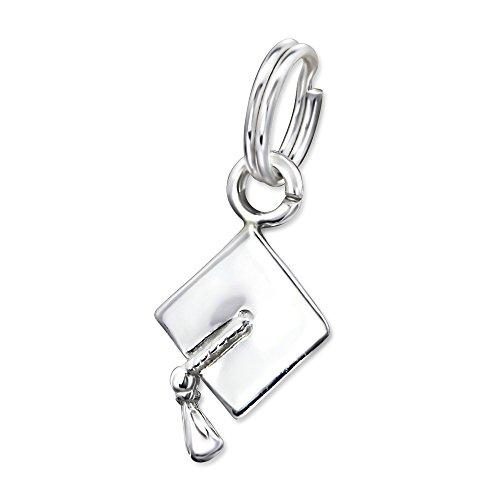 Solid 925 Sterling Silver Dangling Split Top
