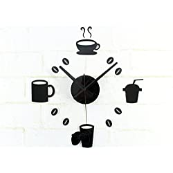 Jingzou DIY clock fashion, creative, wall clock, acrylic, clock, leisure, time, coffee cup