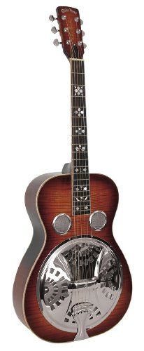 Gold Tone Paul Beard Signature Series PBR-D Roundneck Resonator Deluxe Guitar (Tobacco (Beard Resonator Guitar)