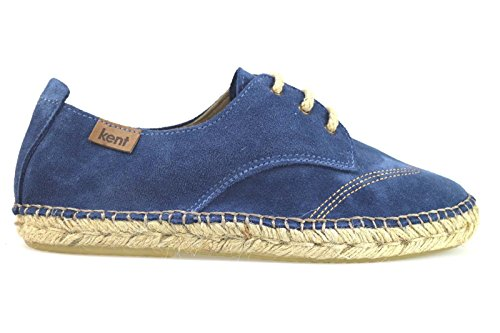 KENT 40 Espadrilles Blau Wildleder AM902-C