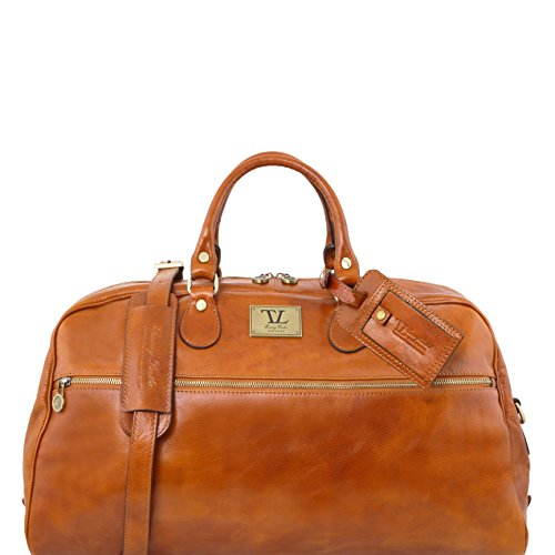 Tuscany Leather TL Voyager Leather travel bag - Large size Honey by Tuscany Leather