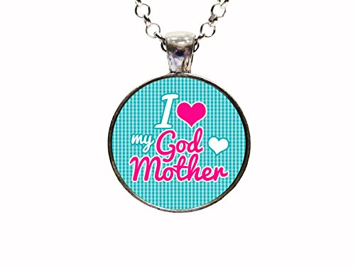 I Love My God Mother Pendant Necklace Or Key chain