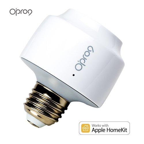 Opro9 iU9 Smart Lightbulb Socket - WiFi Light Bulb Adapter- Works with Apple HomeKit and Apple Siri Voice Control by O'PRO9