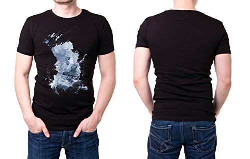 Kung_Fu_II schwarzes modernes Herren T-Shirt mit stylischen Aufdruck