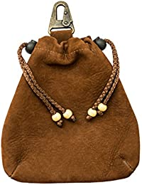 Soft Leather Drawstring Pouch Handmade by Hide & Drink :: Swayze Suede