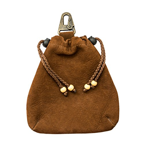 Corbin Leather Saddle (Soft Leather Drawstring Pouch Handmade by Hide & Drink :: Swayze Suede)