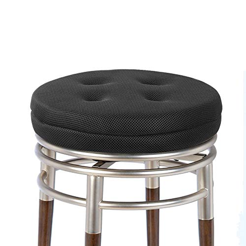 baibu Super Breathable Round Bar Stool Cover Seat Cushion Black 12