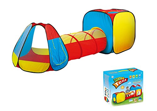 Kids Play Tent with Tunnel for Indoor and Outdoor Use- Extra Large Size by Kid Party Toys by Kid Party Toys
