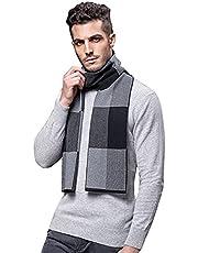 Warm Winter Wool Scarf Formal Elegant Long Fashion Luxurious Soft Warm Plaid Mens Scarves Wrap Scarves